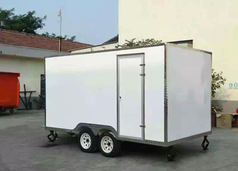 2 axles customized Mobile Food Kitchen Semi Trailer