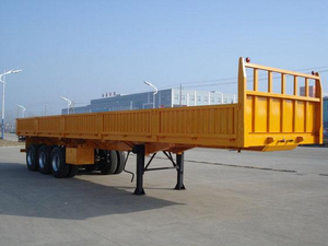 Heavy duty three axles cargo semi-trailer for cargo transportation