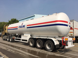ASME 58.5m3 LPG Tri Axle Semi Trailer for Sale