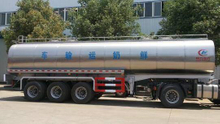 CLW 3 axles Stainless Steel Liquid Food Transport Semi Trailer 30,000 liters Milk Tank Trailer For Sale