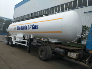 2-Axle 40.5CBM 40500Liters 20MT 20Tons LPG Tanker Semi-Trailer