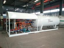 10M3 10000Litres 10CBM 5Tons 5MT LPG Cylinder Filling Skid Station with One Scale