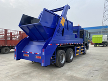 SINOTRUK HOWO 6x4 10m3 Skip loader Roll Container Swing Arm Garbage Truck