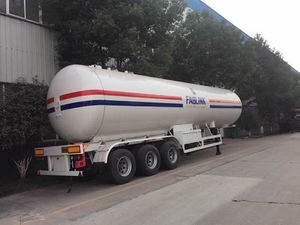ASME Standard 3 Axles LPG Tanker Semi Trailer