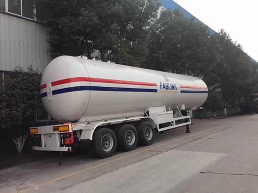 56 Cbm 49.6cbm 40.5cbm 59.52 M3 LPG Propane Tanker Semi Trailer for Sale