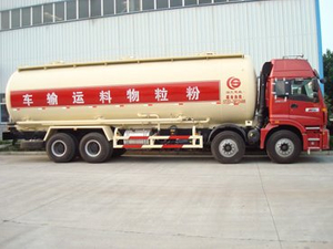 8x4 HOWO Bulk powder /cement tank truck/tanker Air compressor operate