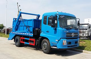 DongFeng 4x2 6m3 Roll Container Swing Arm Garbage Truck